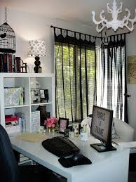 black white home office inspiration. Chic And Creative Grey Black White Curtains Decor Home Office Inspiration O