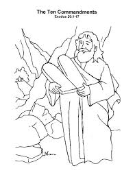 Small Picture Free Coloring Pages Moses And Ten Commandments Coloring Pages Ideas