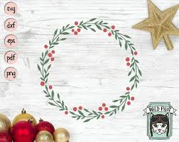 You can download in.ai,.eps,.cdr,.svg,.png formats. Holiday Wreath Svg Etsy