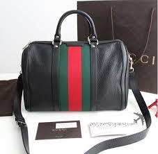 gucci vintage. authentic gucci vintage web black leather boston bag 247205
