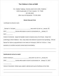 Free Doctor Excuse Note Template Children Clinic Doctors Letter