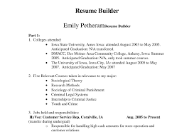 Create Your Resume Customize Your Resume Mefa Pathway Section