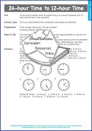 24-hour Time to 12-hour Time — Australian Curriculum Resources Online