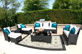 ikea outdoor rugs enchanting outdoor rugs with dark wicker outdoor furniture and white cushions for enchanting