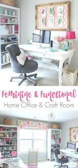 home office work table. Small Of Stylized Feminine Home Office Craft Room Tour Inspirations Homeoffice Workbench Work Table