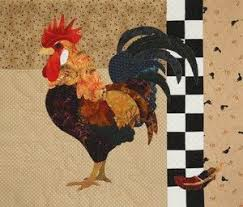 92 best Quilted chickens images on Pinterest | Roosters, Appliques ... & That Radical Rooster Quilt Patterns by designer Florine Johnson Adamdwight.com