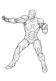 Iron Man Colouring Pages To Print - FunyColoring