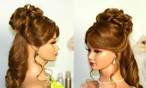 half up half down hairstyles wedding. wedding hairstyle for medium long hair: curly half up down. - youtube down hairstyles