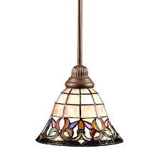 top 58 blue ribbon stained glass chandelier shades with portfolio flora in mission bronze
