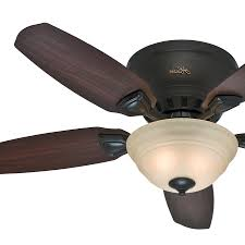 low profile ceiling fan white hunter fans original inch premier new bronze finish with breathtaking light