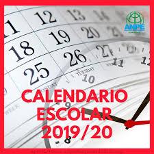 Resultado de imagen de calendario 2019 2020