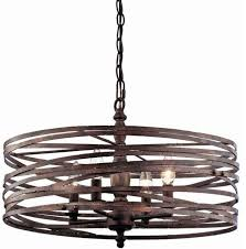 pasco 4 light strap cage chandelier weathered iron