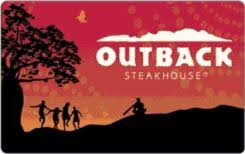 outback steakhouse 50 gift card