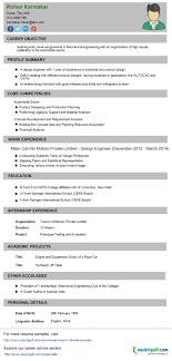 Naukri Resume Sample Pleasing Naukri Resume Format For Experienced About Engineering Cv 11