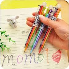 1/<b>2Pcs</b> Korean Creative <b>Cute</b> Cartoon <b>Multicolor</b> Ballpoint Pen $1.12