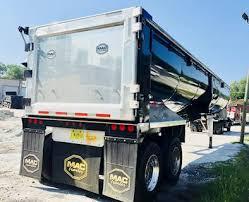 2018 mac 40x102 half round end dump trailer frameless barn door water tight
