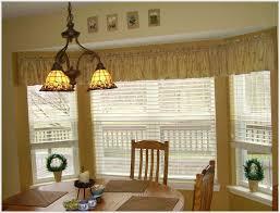 Kitchen Bay Window Treatment Graceful Kitchen Curtain Ideas Bay For Kitchen Bay Window
