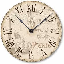 vintage style clock. Plain Style Item C2039 Vintage Style Paris Clock And C