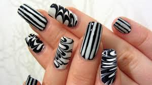nail art ideas black and white