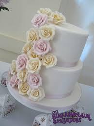 2 Tier Rose Wedding Cake Cake By Sam Harrison Cakesdecor