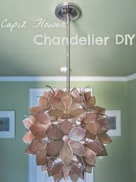 lighting beautiful capiz shell chandelier for home ideas