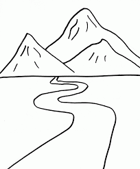 Small Picture 7 Pics Of Color Mountain Coloring Pages Mountain Scene Coloring