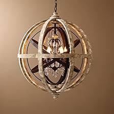 pendant lighting chandelier. lovedima retro rustic weathered wooden globe metal orb crystal 5light pendant lighting chandelier ceiling