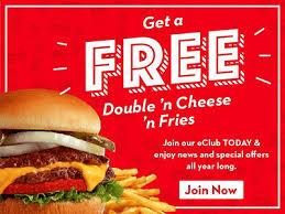 free double n cheese n fries at steak