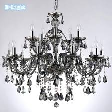 crystal chandeliers cognac smoke black top luxury arms large re home with chandelier lamp in