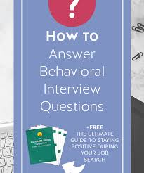 Behavioral Based How To Answer Behavioral Based Interview Questions Professor Austin