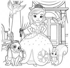 Small Picture Sofia The First and Her Friends Coloring Page NetArt