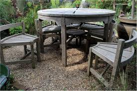 rare weathered teak garden set by hughes bolckow