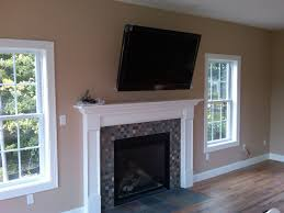 mount tv over fireplace. Gas Fireplace With Tv Mounted Over It | Stonington, CT \u2013 TV On Articulating Mount. Swings . Mount H