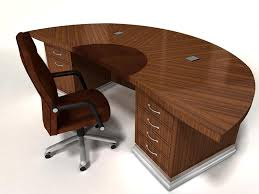 exquist half round custom wood desk built to order with office plans 0
