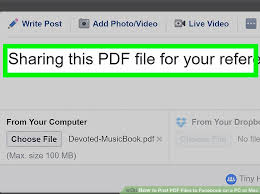 facebook max video size how to post pdf files to facebook on a pc or mac 8 steps