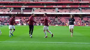 Arsenal players warming up vs Fulham @ Emirates Stadium, 01 Jan 2019 -  YouTube