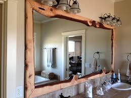 Bathroom Framed Mirrors Bathroom Ideas Wood Framed Large Bathroom Mirror Above Double