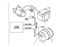 chevy alternator wiring diagram non electronic for alternator based