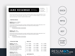 Fotios Simple Black And White Resume Template Resumgocom