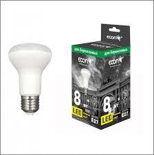<b>Лампа светодиодная ECON LED</b> R63 8Вт E27 3000K ES - купить ...