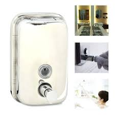 stainless steel bathroom soap shampoo dispenser wall mounted lotion pump and