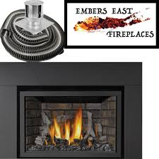 napoleon infrared ir3 direct vent gas fireplace insert panels surround vent kit