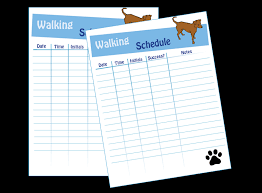Dog Walking Chart Dog Schedule App Goldenacresdogs Com