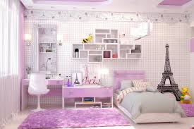 bedroom interior design for teenage girls. Plain Design Paris Themed Teenage Girl Bedroom Ideas With Cool Interior Design And  Modern Wall Shelf Also Small Study Desk Chair For Girls
