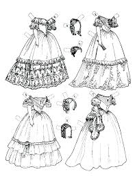 Coloring Pages Of Dresses Free Coloring Pages Of Wedding Dresses