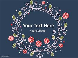 Free Embroidery Frame Powerpoint Template Download Free