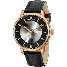 atlantis limited edition automatic men s watch leather strap black rose gold tone