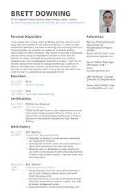 Esl Teacher Resume Sample No Experience11 Free Resumes Tips