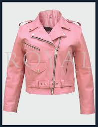 womens pink motorcycle leather jacket