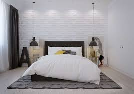 Nordic Bedroom Bedroom Enjoyable Scandinavian Bedroom Decor With White Brick